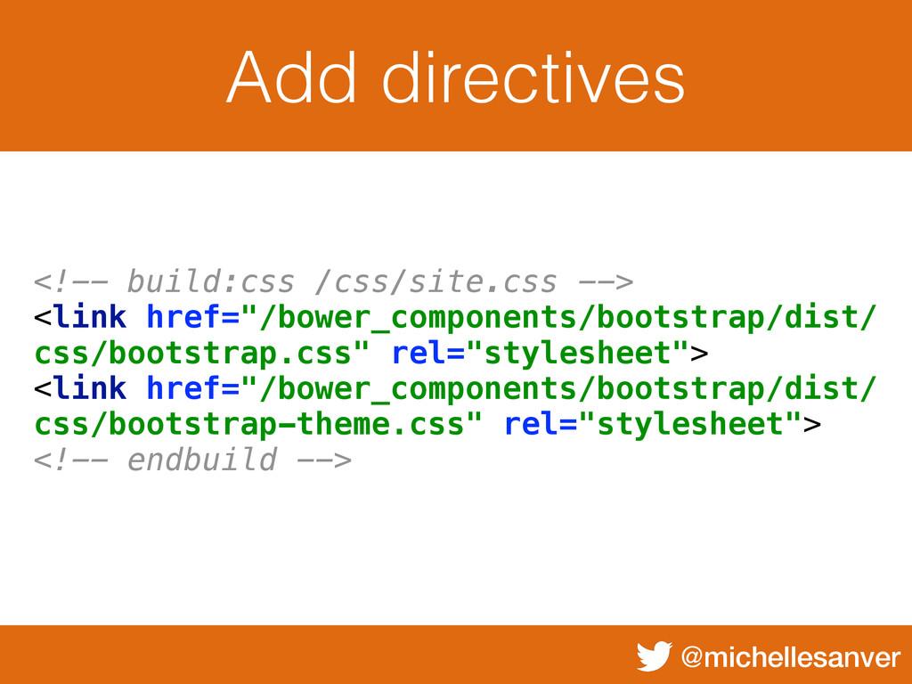 @michellesanver Add directives <!-- build:css /...