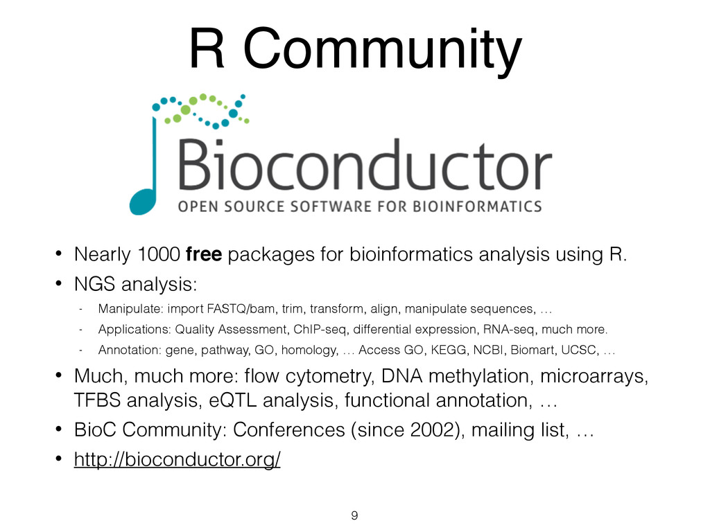 R Community • Nearly 1000 free packages for bio...