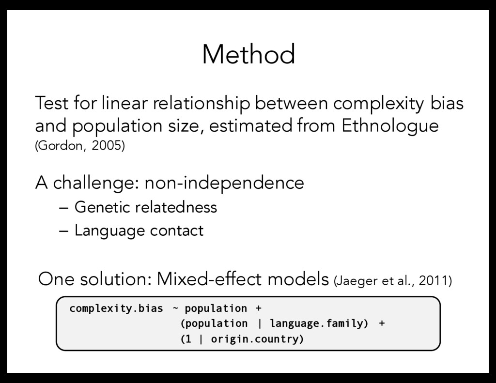 Method Test for linear relationship between com...