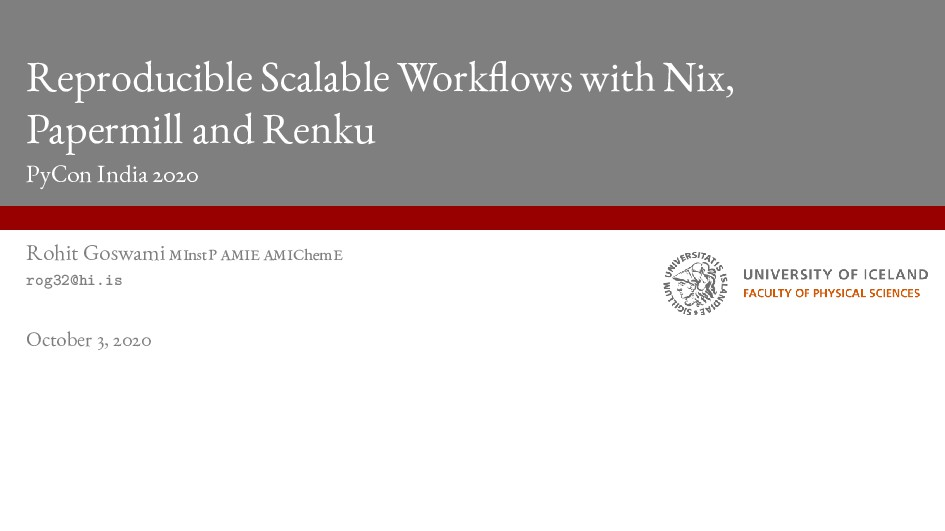Reproducible Scalable Workflows with Nix, Paper...