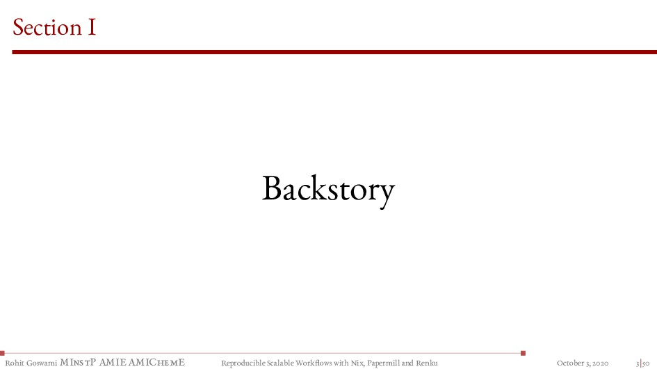 Section I Backstory Rohit Goswami MInstP AMIE A...