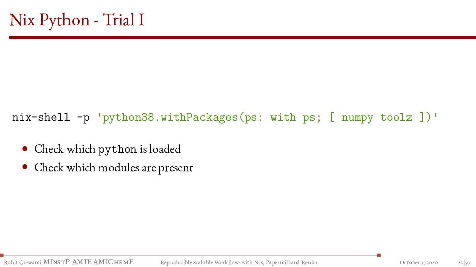 Nix Python - Trial I nix-shell -p 'python38.wit...