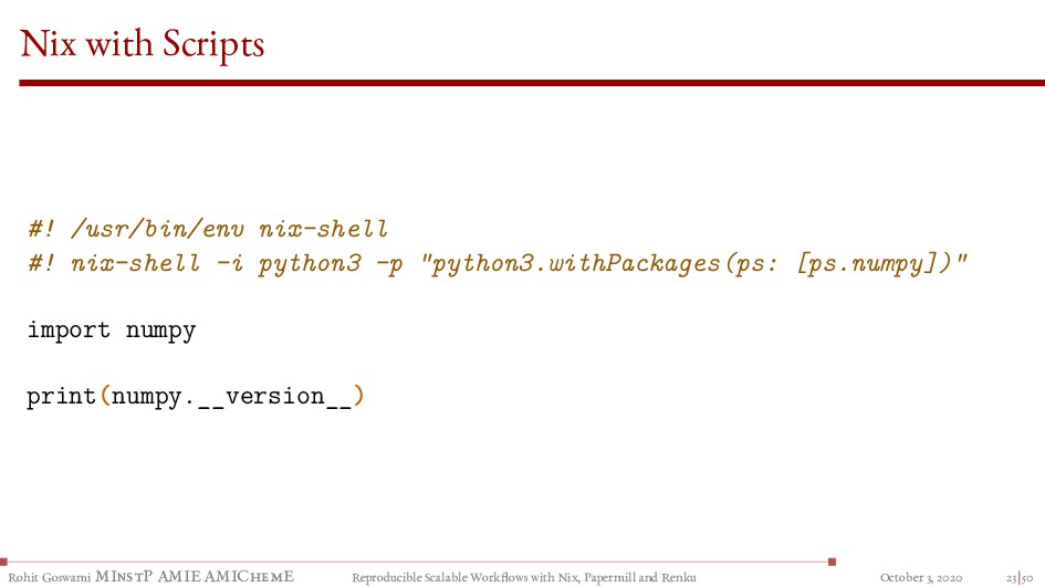 Nix with Scripts #! /usr/bin/env nix-shell #! n...