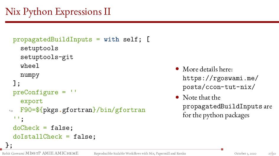 Nix Python Expressions II propagatedBuildInputs...