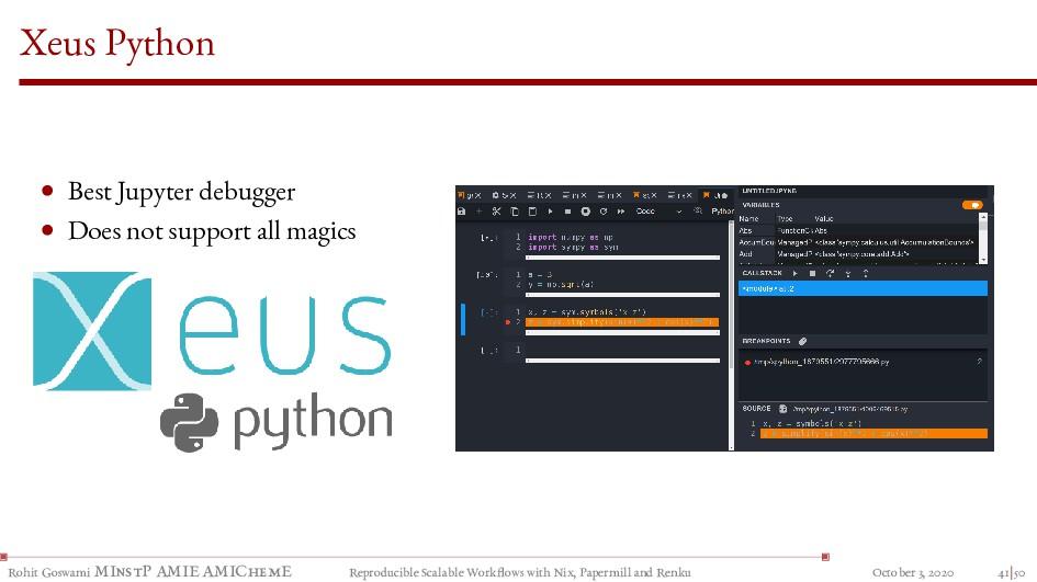 Xeus Python • Best Jupyter debugger • Does not ...
