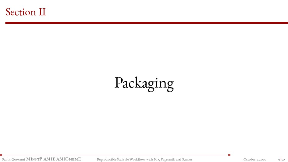 Section II Packaging Rohit Goswami MInstP AMIE ...