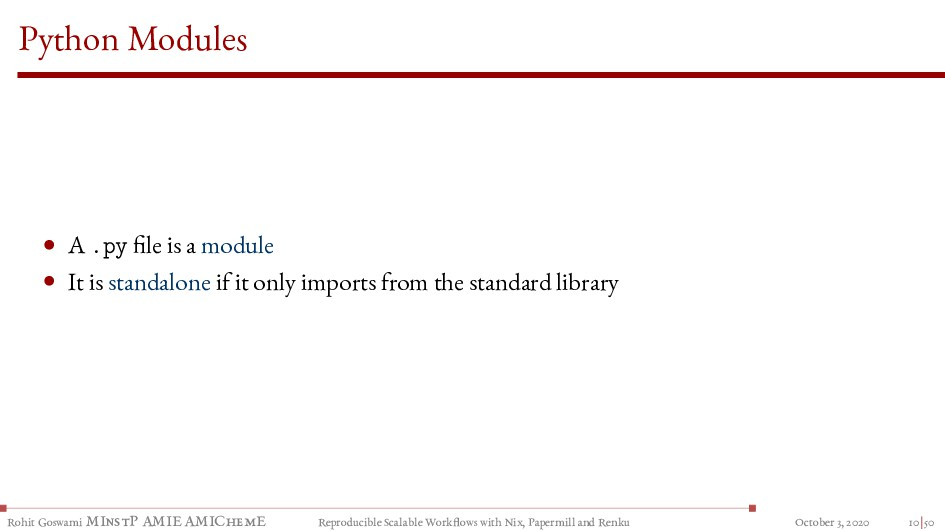 Python Modules • A .py file is a module • It is...