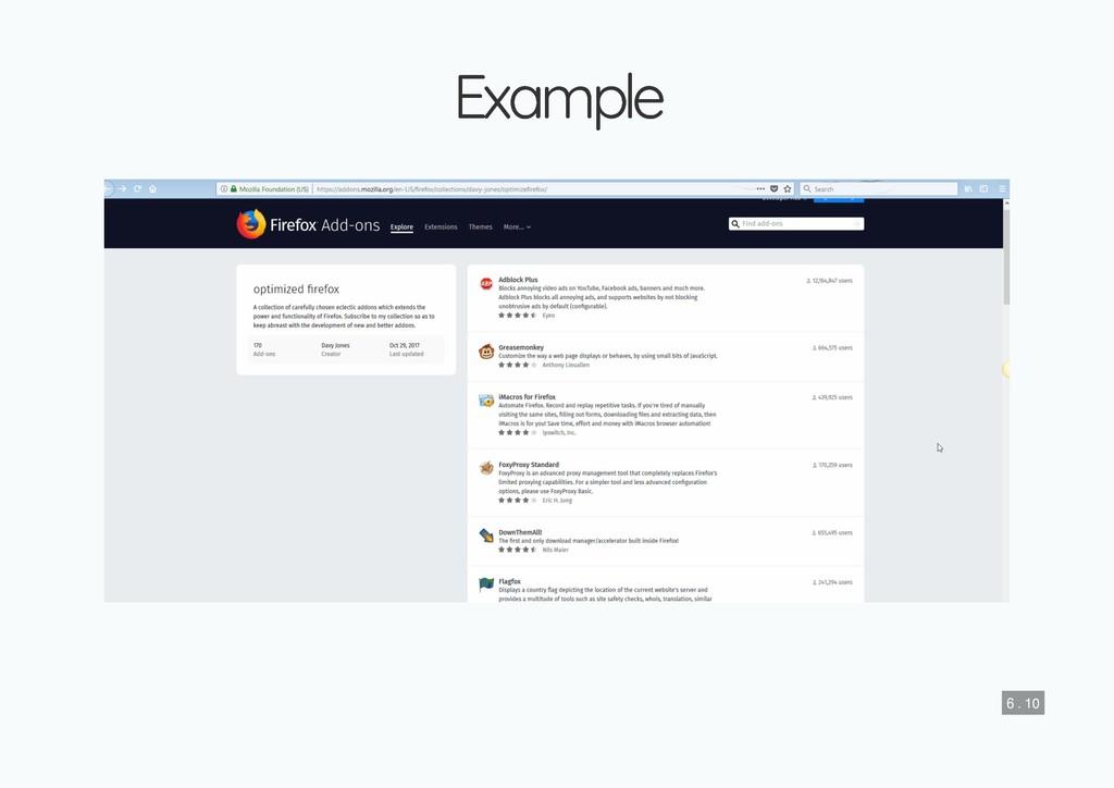 Example Example 6 . 10