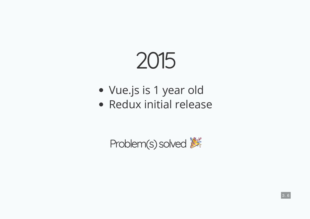 2015 2015 Vue.js is 1 year old Redux initial re...