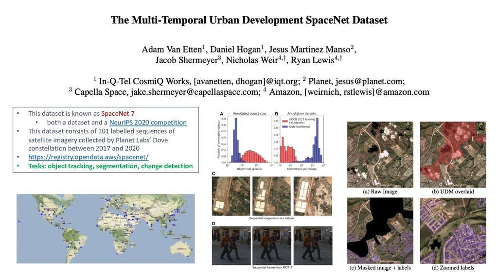 • This dataset is known as SpaceNet 7 • both a ...