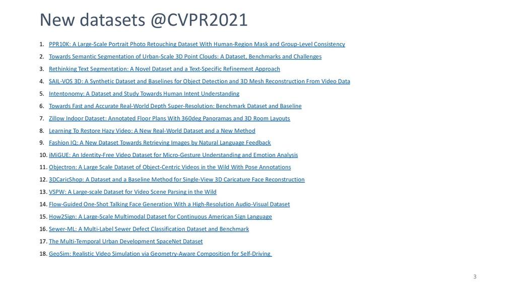 New datasets @CVPR2021 1. PPR10K: A Large-Scale...