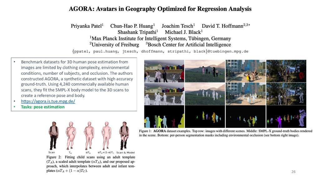 26 • Benchmark datasets for 3D human pose estim...