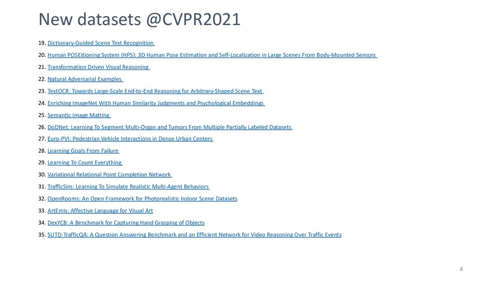 4 New datasets @CVPR2021 19. Dictionary-Guided ...