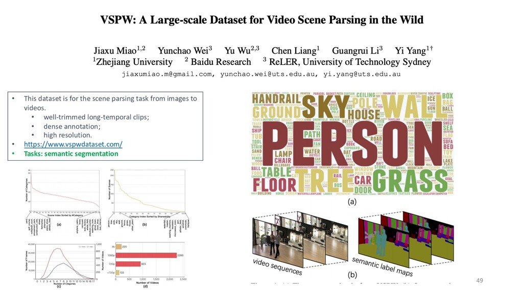 49 • This dataset is for the scene parsing task...