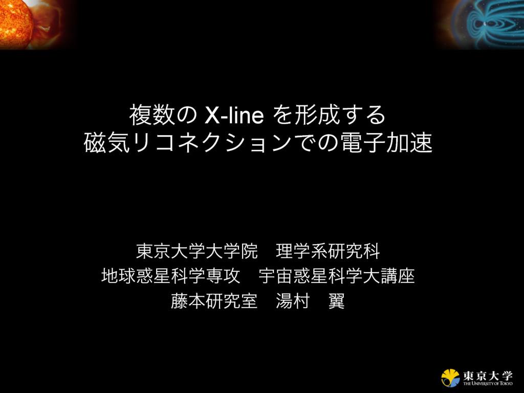 ෳͷ X-line Λܗ͢Δ ࣓ؾϦίωΫγϣϯͰͷిࢠՃ ౦ژେֶେֶӃɹཧֶܥݚڀՊ...