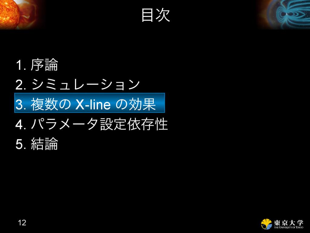 1. ং 2. γϛϡϨʔγϣϯ 3. ෳͷ X-line ͷޮՌ 4. ύϥϝʔλઃఆґ...