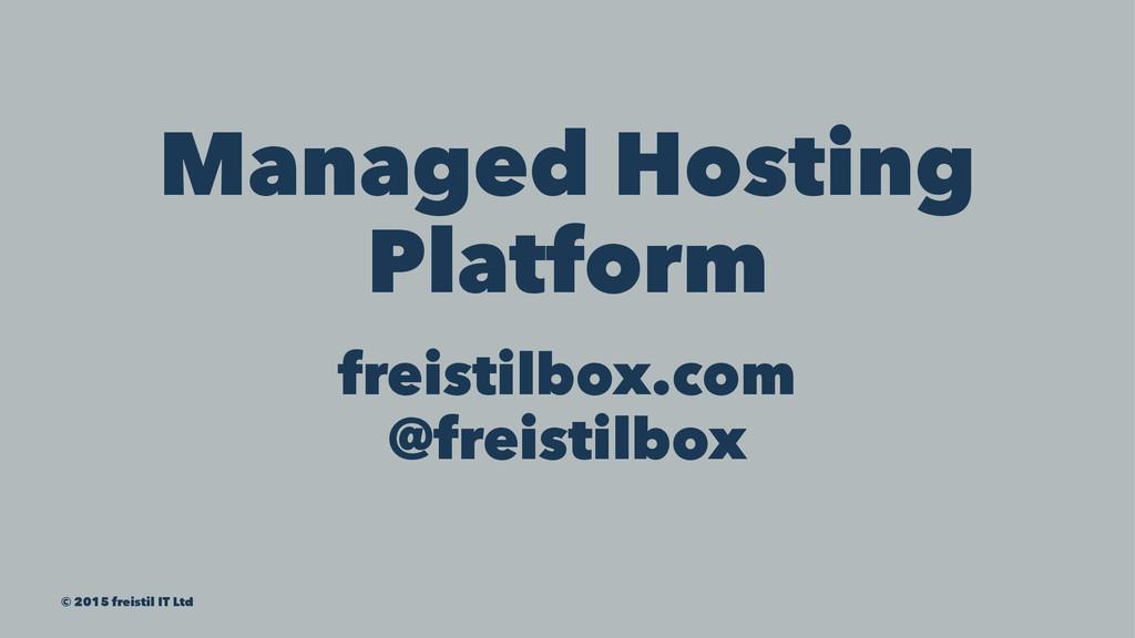 Managed Hosting Platform freistilbox.com @freis...