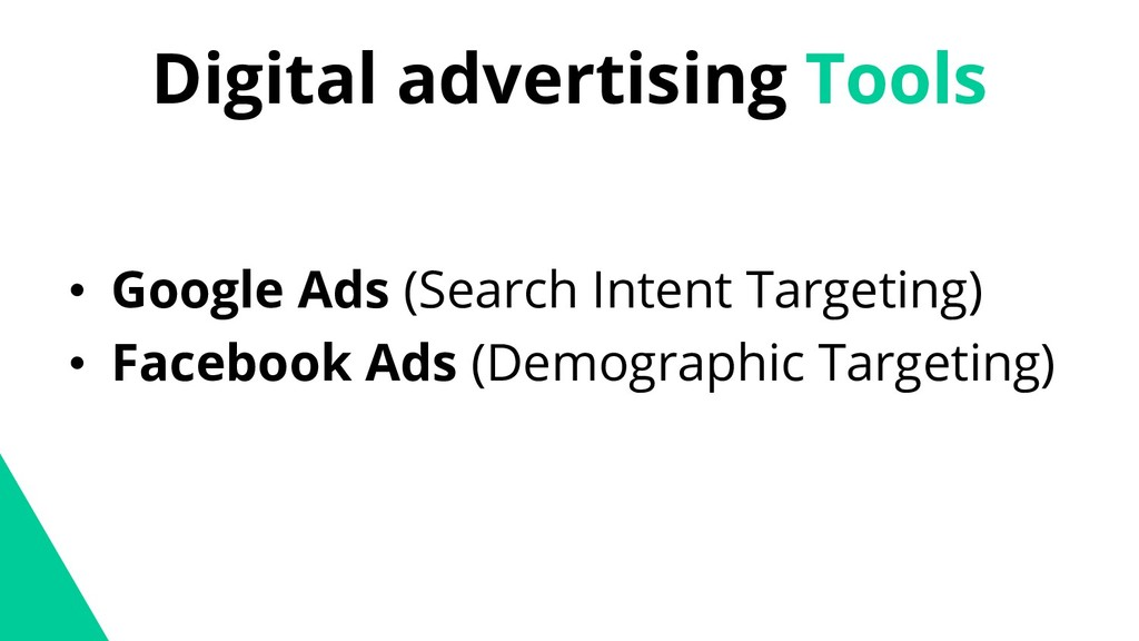 Digital advertising Tools • Google Ads (Search ...