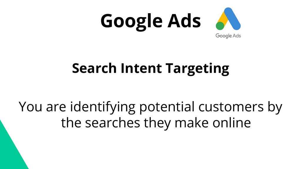 Google Ads Search Intent Targeting You are iden...