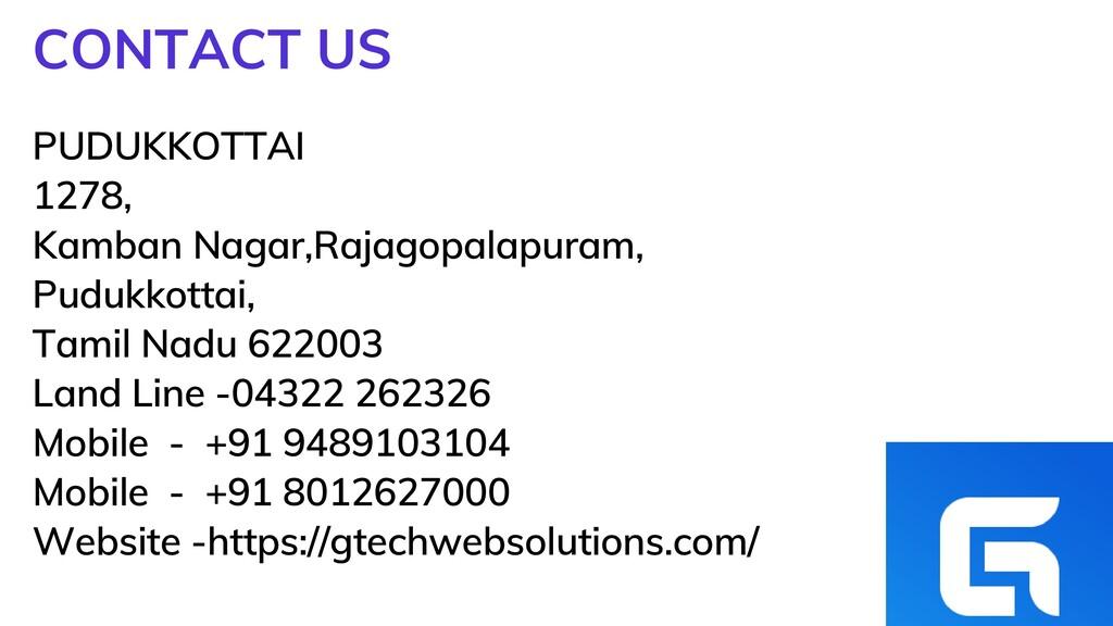 PUDUKKOTTAI 1278, Kamban Nagar,Rajagopalapuram,...