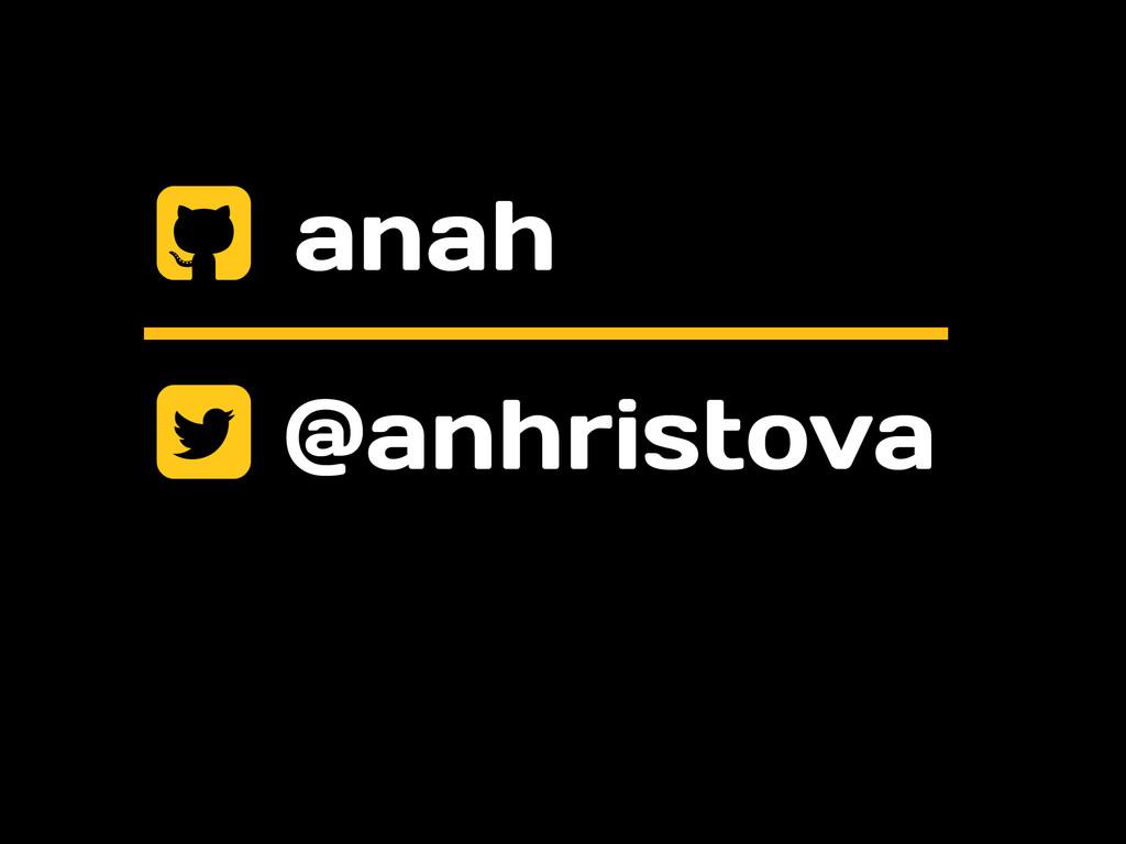 @anhristova + , anah