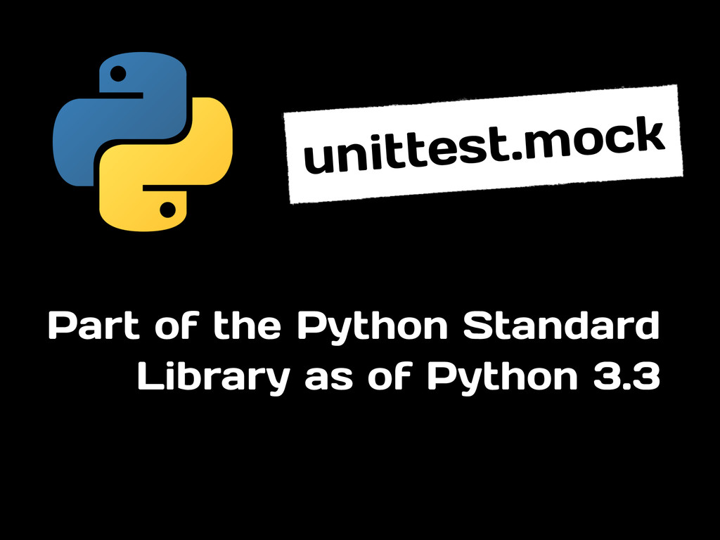 Part of the Python Standard Library as of Pytho...