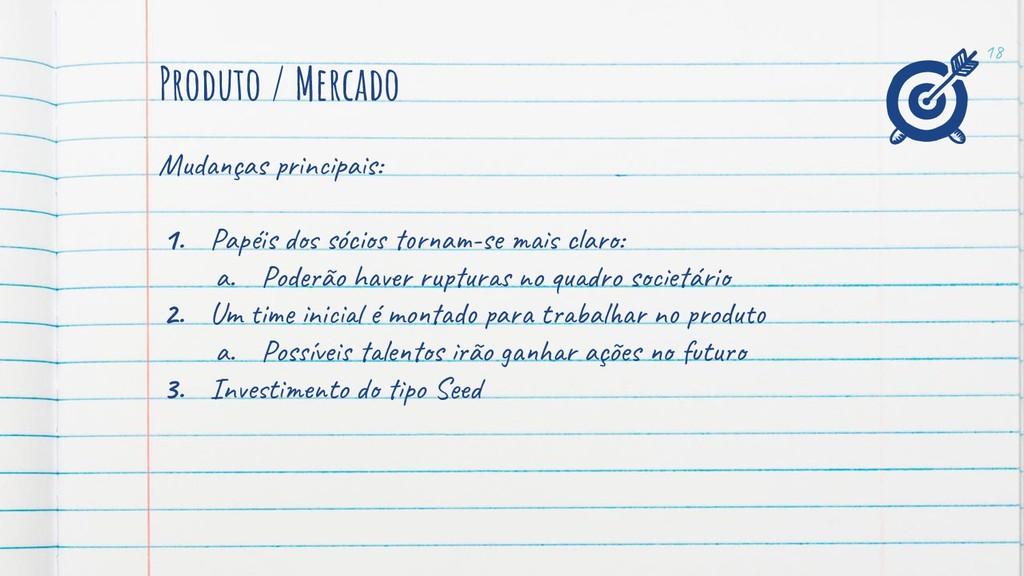 Produto / Mercado Mud ças n a s: 1. Papéis sóci...