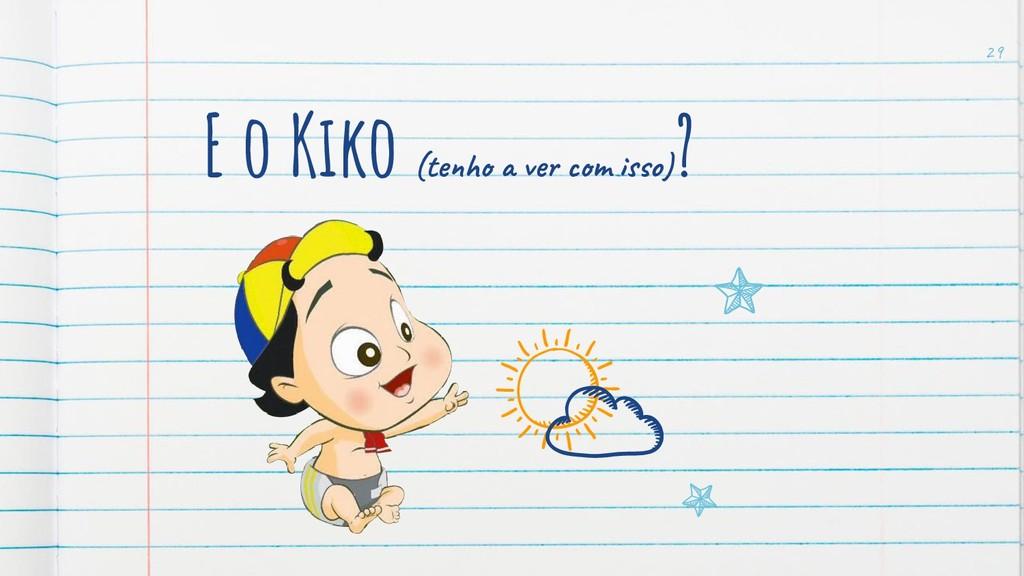 E o Kiko (te ve m o) ? 29