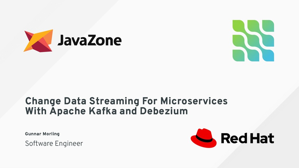Change Data Streaming For Microservices Change ...