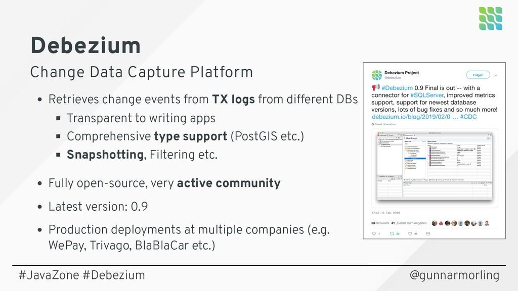 Debezium Debezium Change Data Capture Platform ...