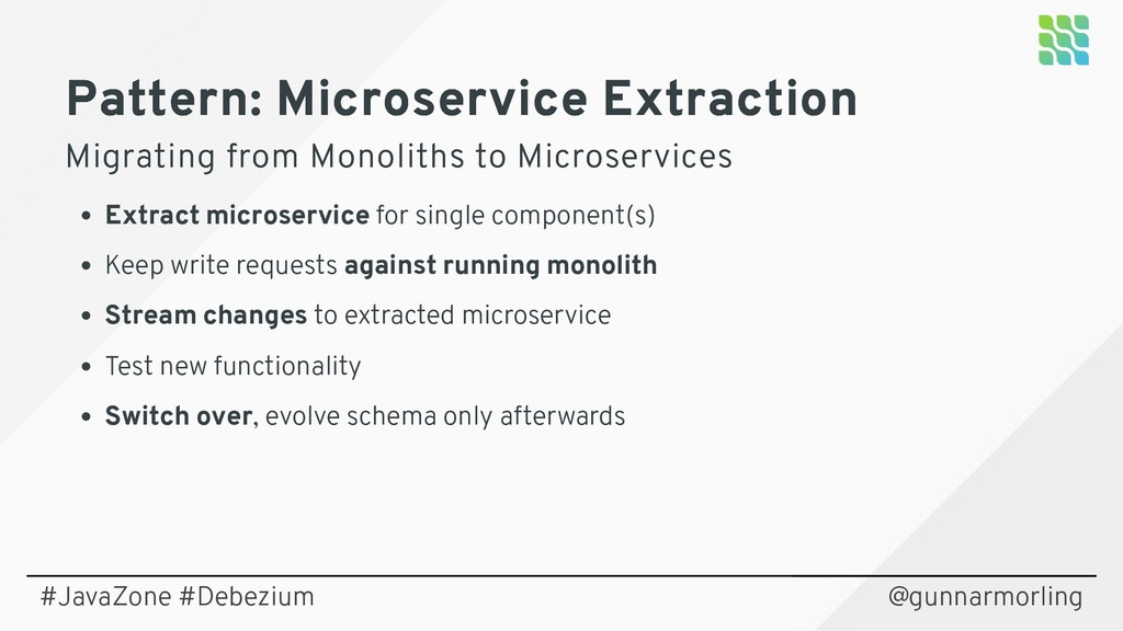 Pattern: Microservice Extraction Pattern: Micro...