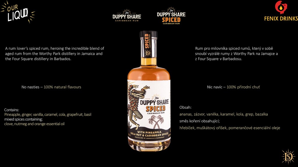 No nasties – 100% natural flavours A rum lover'...