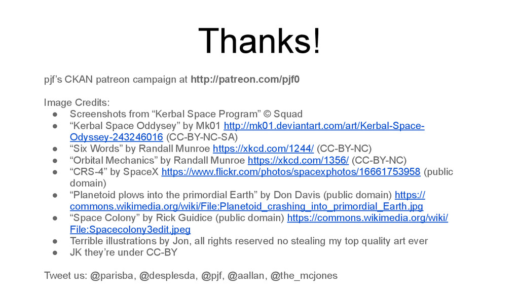 Thanks! pjf's CKAN patreon campaign at http://p...