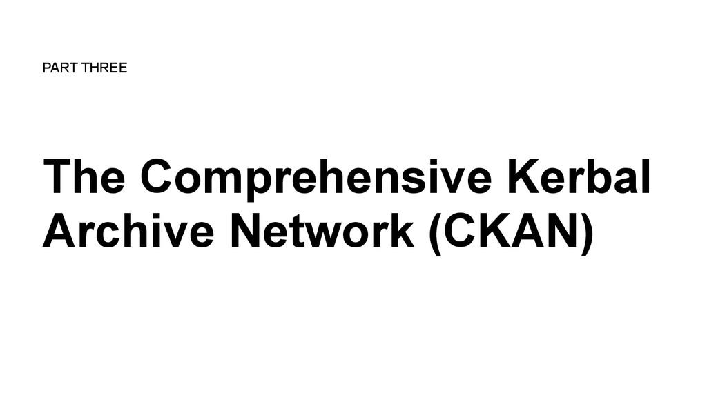 The Comprehensive Kerbal Archive Network (CKAN)...