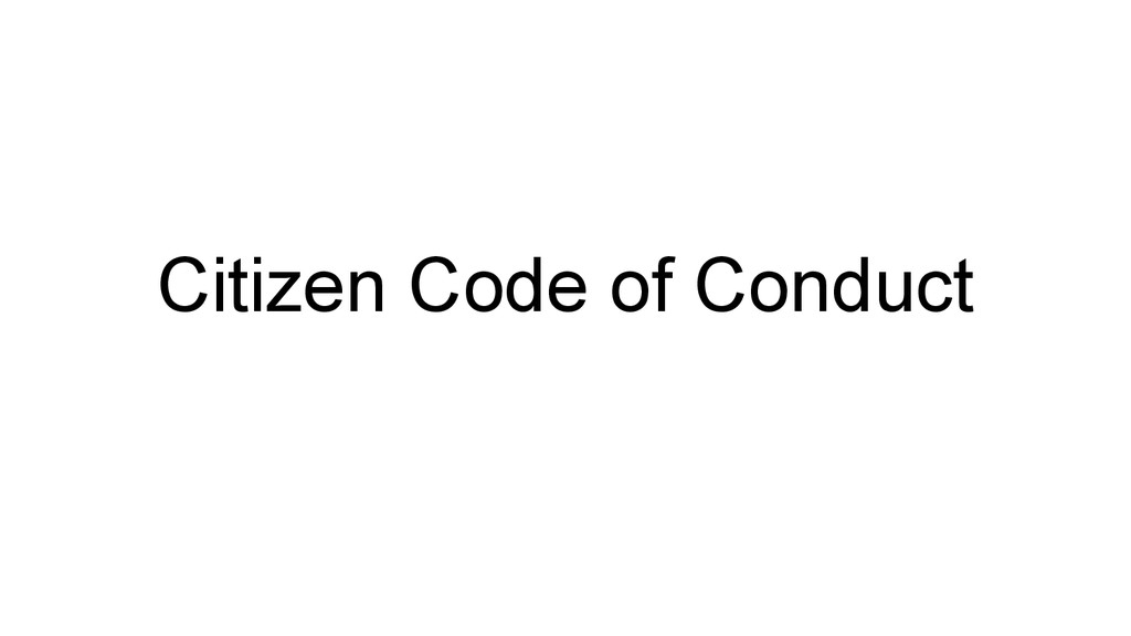 Citizen Code of Conduct