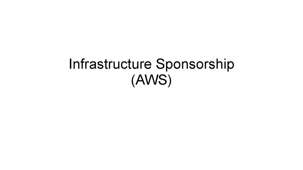 Infrastructure Sponsorship (AWS)
