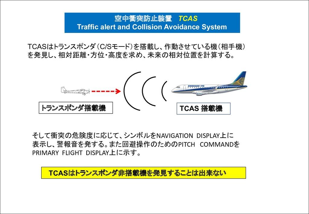 空中衝突防止装置 TCAS Traffic alert and Collision Avoid...