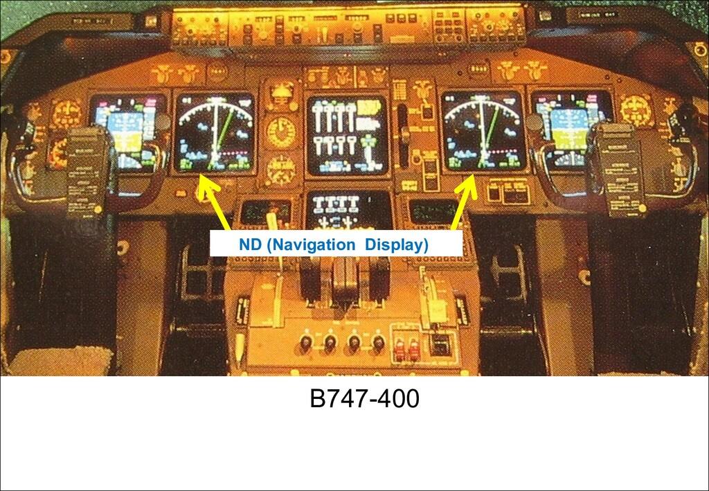 ND (Navigation Display) B747-400