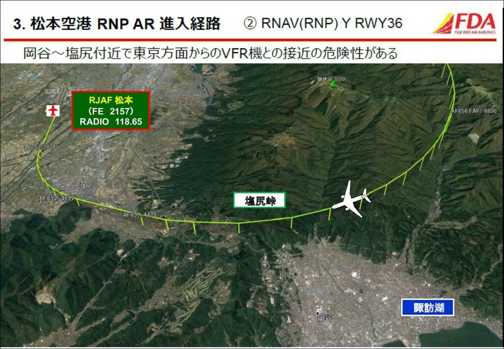 諏訪湖 塩尻峠 RJAF 松本 (FE 2157) RADIO 118.65