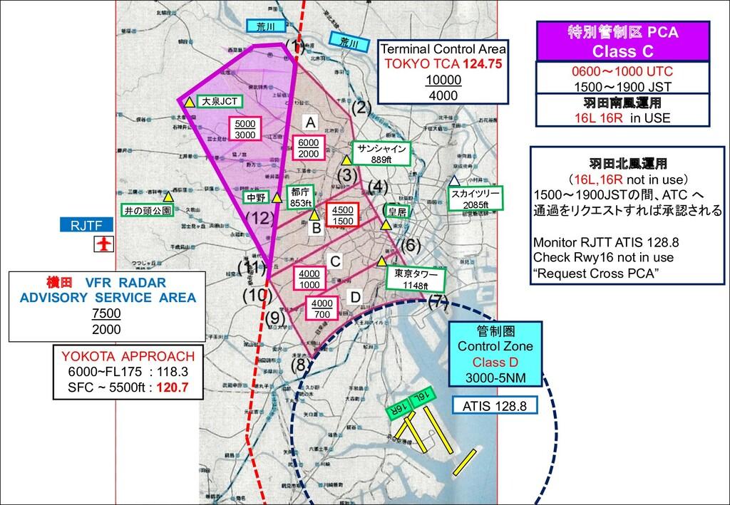 16R 16L 管制圏 Control Zone Class D 3000-5NM 6000 ...