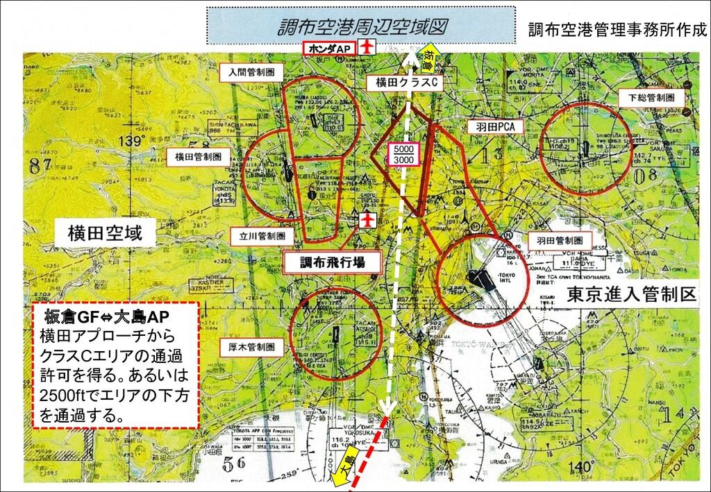 調布空港管理事務所作成 ホンダAP 5000 3000 大島 板倉GF⇔大島AP 横田アプロー...