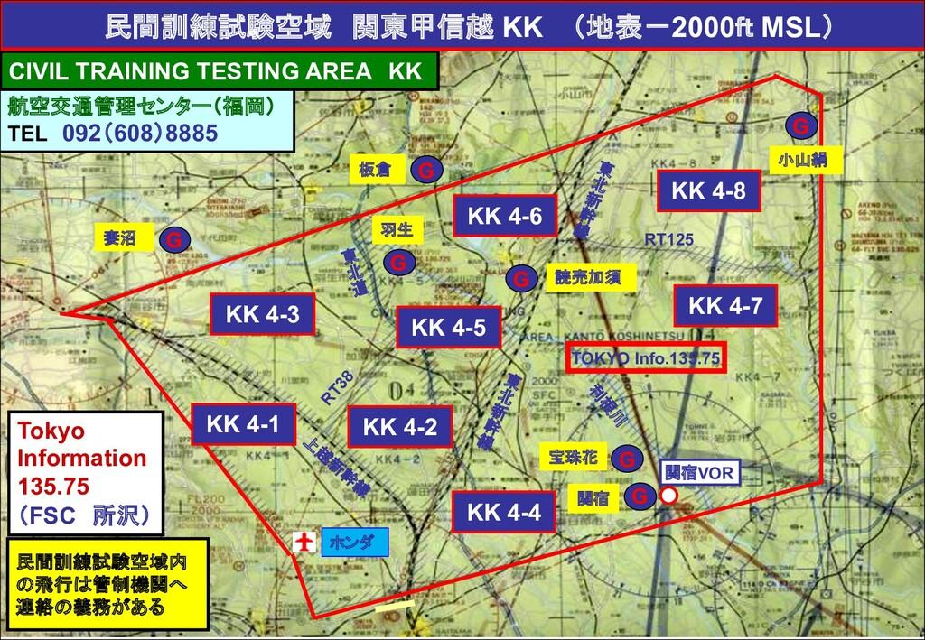 妻沼 板倉 宝珠花 関宿 民間訓練試験空域内 の飛行は管制機関へ 連絡の義務がある 航空交通管...