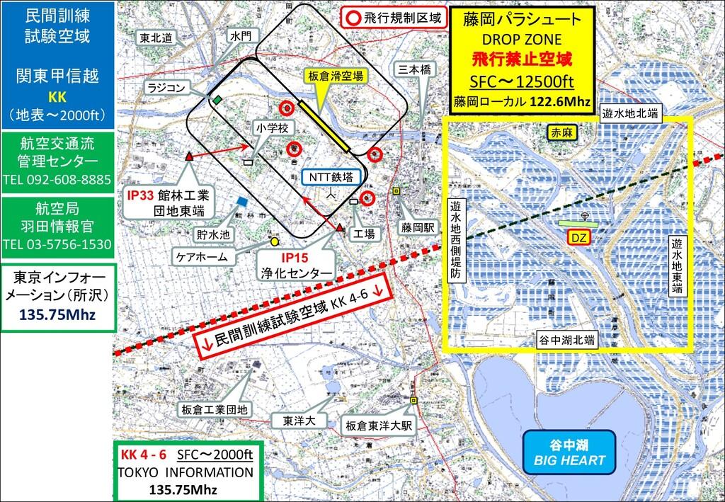 ↓民間訓練試験空域 KK 4-6 ↓ KK 4 - 6 SFC~2000ft TOKYO IN...