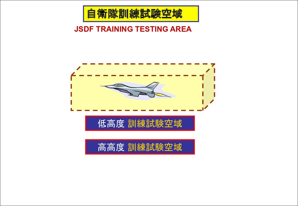 自衛隊訓練試験空域 JSDF TRAINING TESTING AREA 低高度 訓練試験空域...