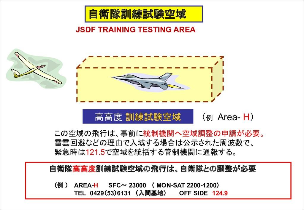 自衛隊訓練試験空域 JSDF TRAINING TESTING AREA 高高度 訓練試験空域...