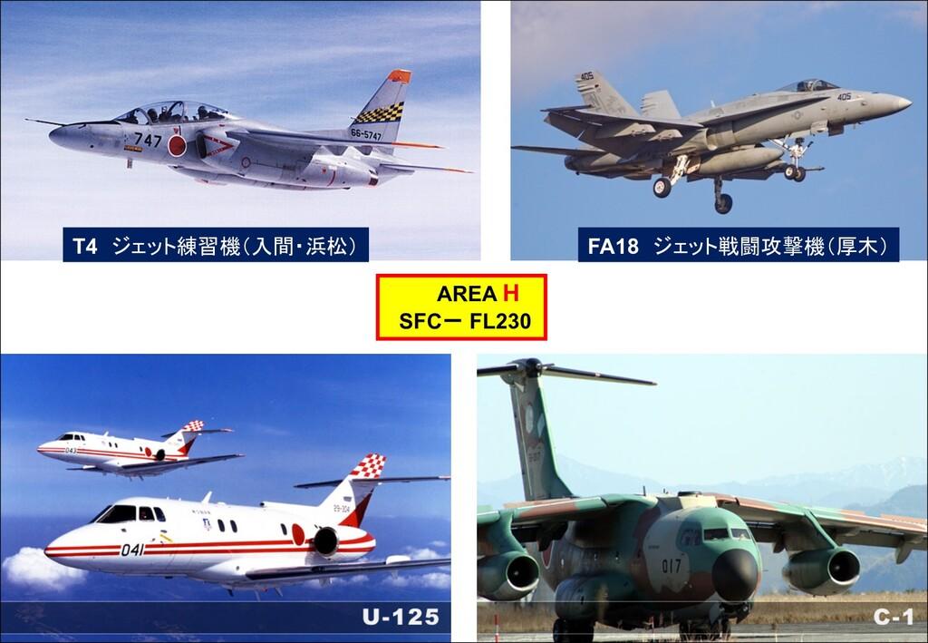 T4 ジェット練習機(入間・浜松) FA18 ジェット戦闘攻撃機(厚木) AREA H SFC...