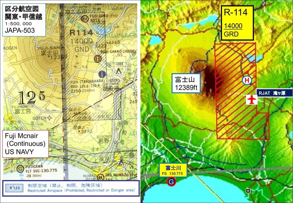 RJAT 滝ヶ原 R-114 14000 GRD 富士山 12389ft 富士川 FS 130...