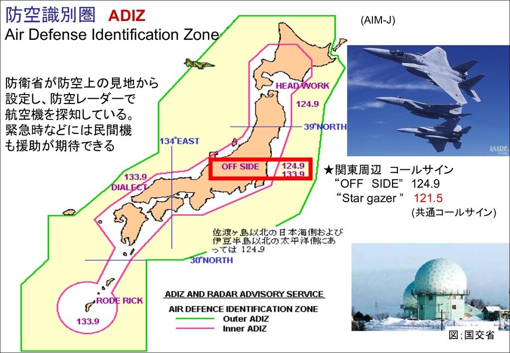 防空識別圏 ADIZ Air Defense Identification Zone 防衛省が...