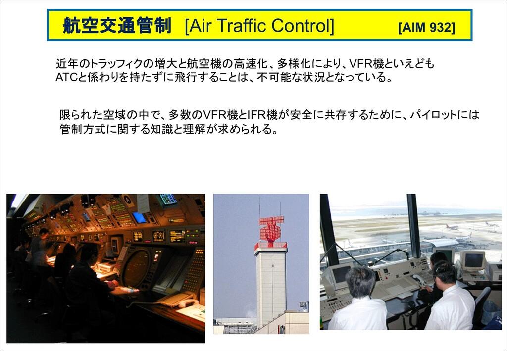 近年のトラッフィクの増大と航空機の高速化、多様化により、VFR機といえども ATCと係わりを持...