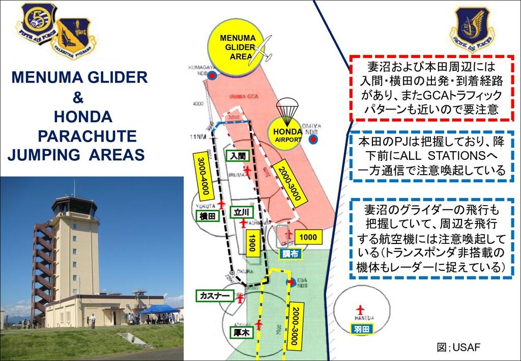 横田 厚木 羽田 調布 HONDA AIRPORT MENUMA GLIDER AREA 20...